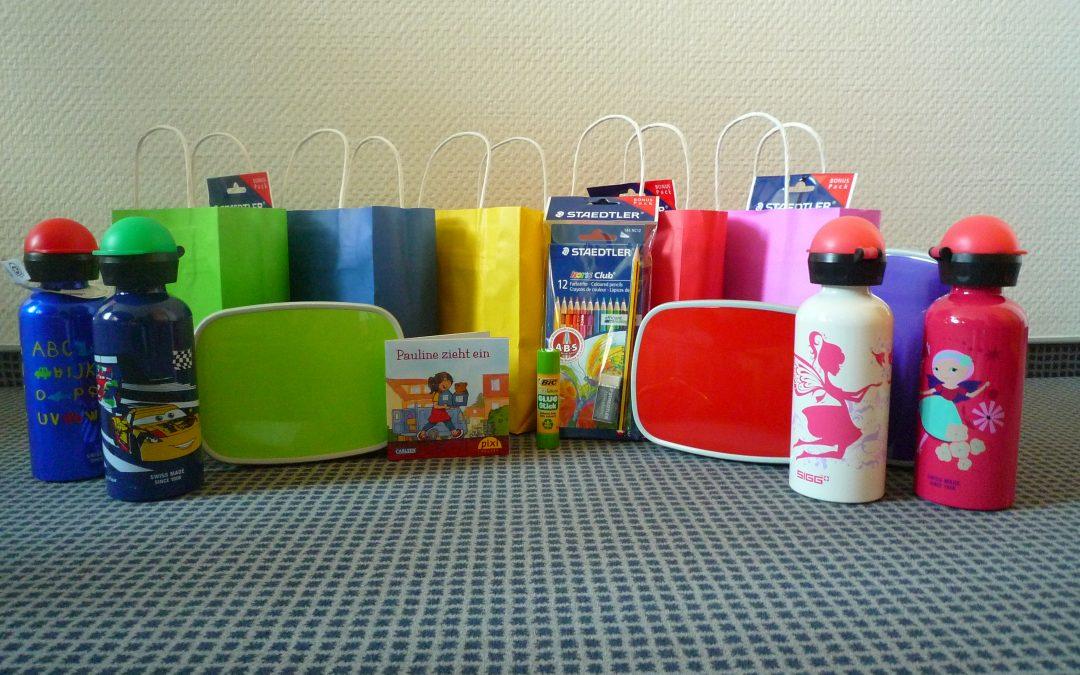 Starterpakete zur Einschulung der Bauverein-Kinder